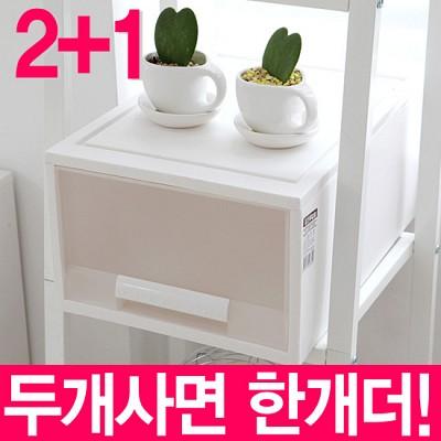 [StoryG]화인화이트스텝서랍박스27(2호1단) 2+1 세트