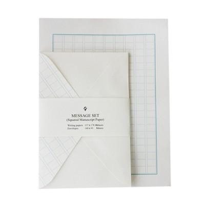 [자연과사람] 원고지(블루) 편지세트