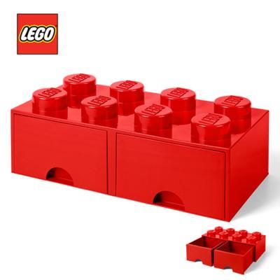 레고 블럭 서랍형정리함 8구 1730_ 빨강