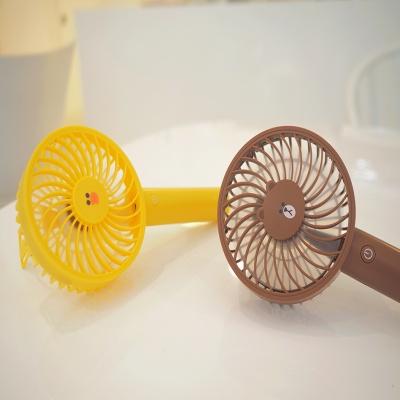 라인프렌즈 핸디형 선풍기 브라운(LED라이트 기능)