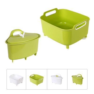 프라임 핸디 설거지통(대)과 프라임 씽크대 쓰레기통