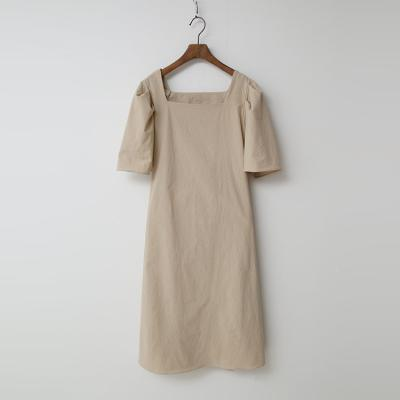 Linen Cotton Puff Dress