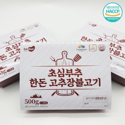 초심푸드 부추한돈고추장불고기 500g x 3팩