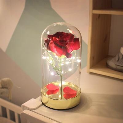 골드 레드 쁘띠 로즈돔 LED 무드등