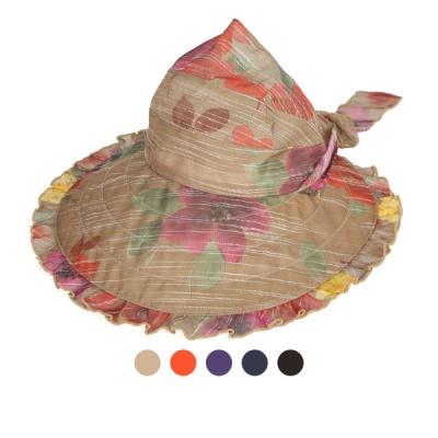 [디꾸보]프릴 바이저 플라워 벨크로 썬캡 모자 AC603
