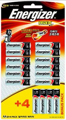 에너자이저 맥스AA(12+4알)