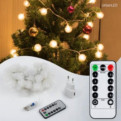 어반 LED 눈꽃전구 50구 USB형