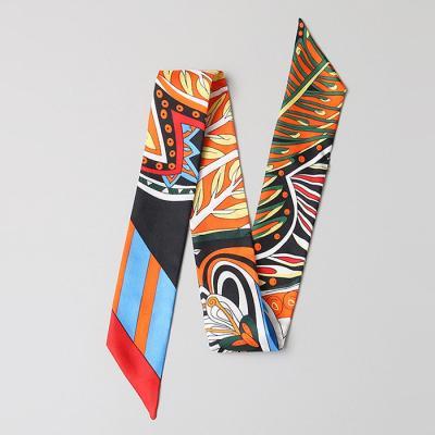 Silk Orange Petit Tie Scarf