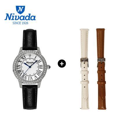 [NIVADA] 니바다 1+2 체인저블 여성용 가죽시계 3014