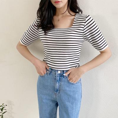 Stripe Square Knit