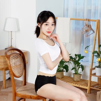 테라우드 여성용 베이직 미디 물결 팬티 4p