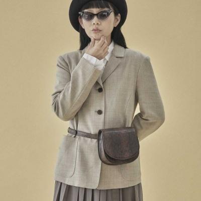 [펀프롬펀]Kate mini bag_snake (brown)
