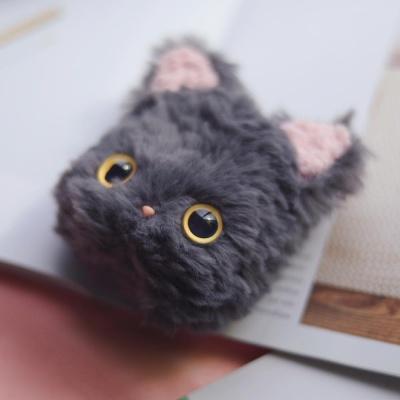 에어팟 1 2 고양이 인형 실리콘 털 케이스_그레이 507