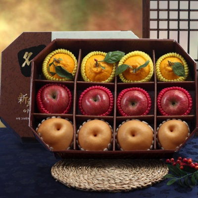 명품팔각 실속 사과,배,한라봉 실속 선물세트/4.6kg