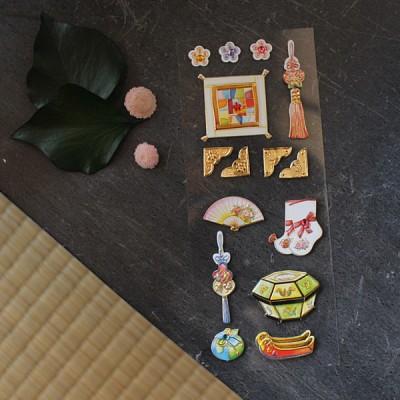 여인의 방 전통스티커 / 030-SK-0012