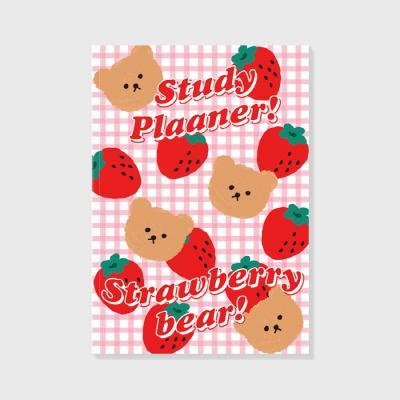 Dot strawberry check-pink(study planner)