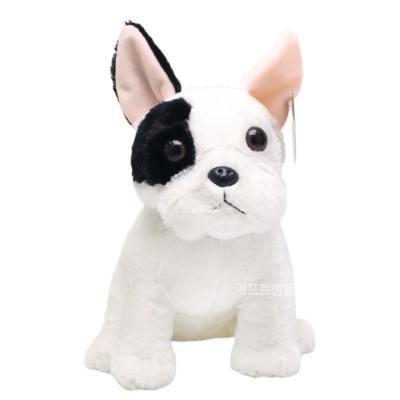 정품 리얼 프렌치 불독 강아지 봉제인형 25cm