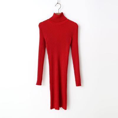 Sweet Turtleneck Knit Dress