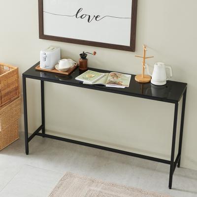 심플라인 강화유리 철제 홈바 카페 테이블 1500