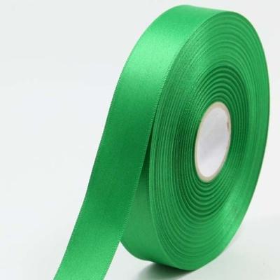 무광공단리본 25mm (9미터 컷팅롤) 초록