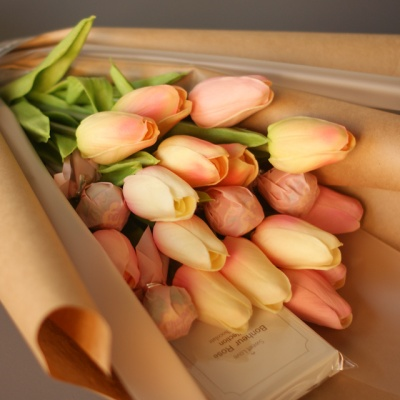 튤립 수제초콜릿 사탕꽃다발