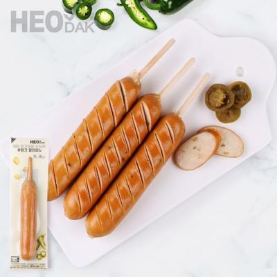 [허닭] 닭가슴살 소시지 후랑크 할라피노 70g 1+1+1