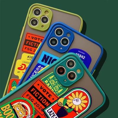 아이폰11 SE2 XR X 8 빈티지라벨 실리콘 핸드폰케이스