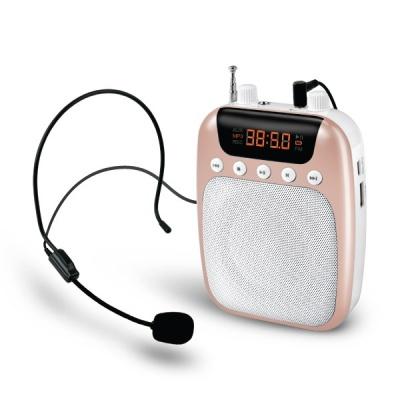 유선 마이크 스피커 30W / 라디오 (로즈골드) LCWW501