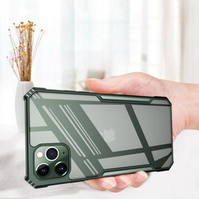 아이폰11 pro max 슬림 컬러 사각 범퍼 하드 폰케이스