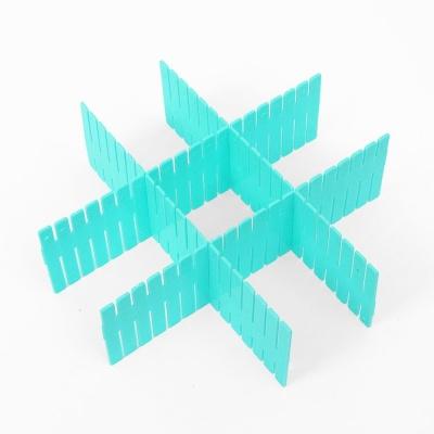 홈슨 서랍정리 칸막이보드 4p세트 블루 서랍 파티션