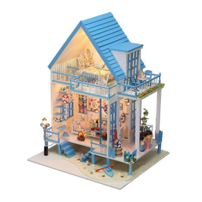[adico]DIY미니어처 full하우스 - 블루 방갈로