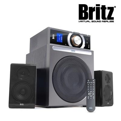 브리츠 스피커 BR-4900T5 Plus (2.1채널 / 정격출력 53W / 무선리모컨 / 라디오기능 / AUX단자 / 독립형앰프 / 위성스피커)
