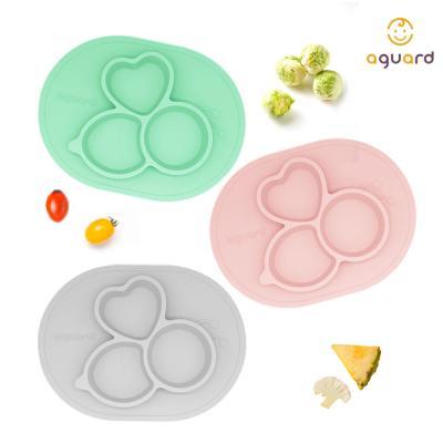 아가드 맘마비 흡착 식판 3pot형 1입 유아 아기 실리콘 식기 그릇 매트
