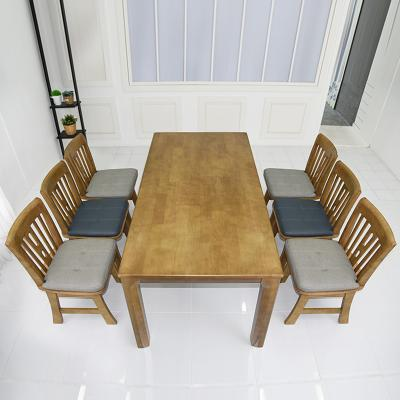 토도 고무나무 원목 식탁세트 의자형 6인