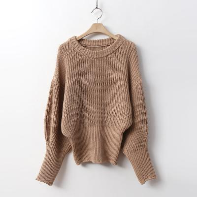 Puff Crop Round Knit