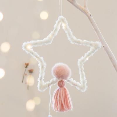 DIY 포근한 크리스마스 드림캐쳐(별-핑크)