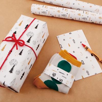 [기성]포장지 화이트 크리스마스
