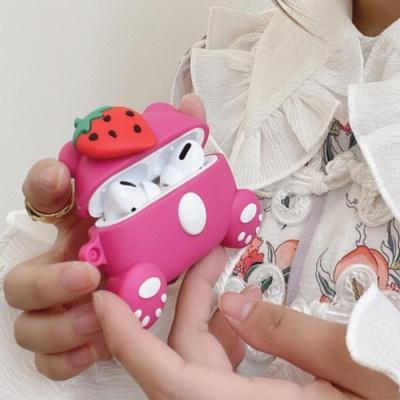 에어팟프로케이스 1 2세대 귀여운 딸기 캐릭터 실리콘