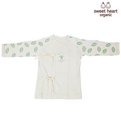 [신생아용]오가닉 나뭇잎 배냇저고리