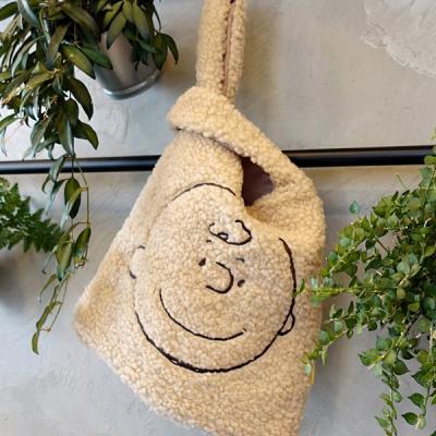 [Peanuts]찰리브라운 페이스 부클백