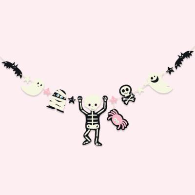 할로윈 핑크 가랜드 set