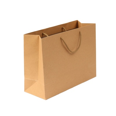 무지 가로형 쇼핑백(브라운)(32x25cm)