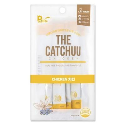 고양이 간식 펫라이프 더캣츄 치킨 10g 5개입 캣 간식