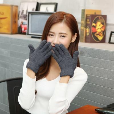 소프트 보온 털장갑(차콜)/ 겨울 여성장갑