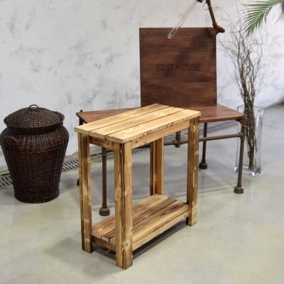 원목 화분받침대 겸용 넓은의자 2단 H60x28x60cm