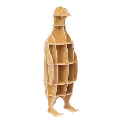 DIY 펭귄 동물모형 선반 책장 인테리어 책꽂이