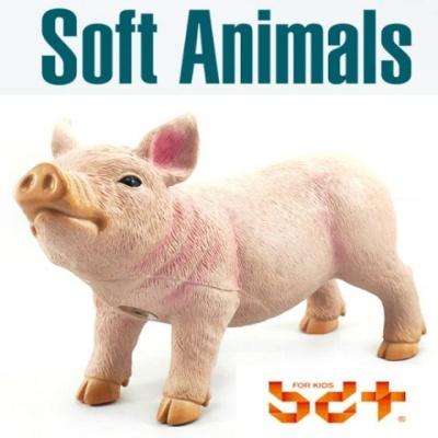 반디 돼지 말랑말랑 소프트피규어 동물모형완구 동