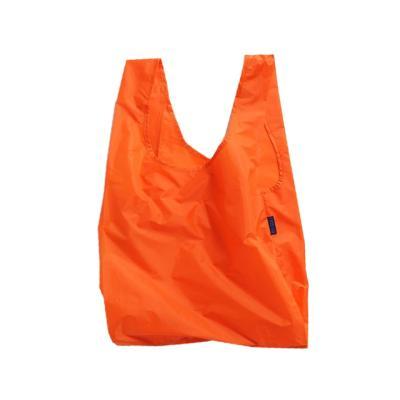 [바쿠백] 휴대용 장바구니 접이식 시장가방 Orange