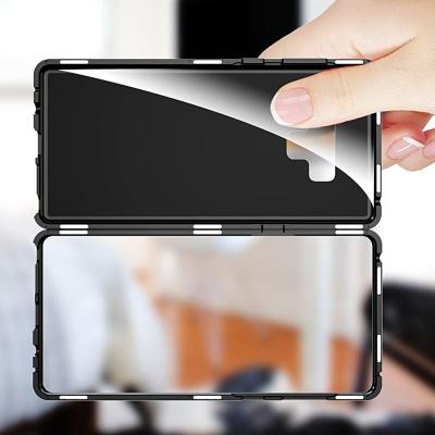 갤럭시 노트9 S9 S8 플러스 풀커버 자석 메탈 케이스