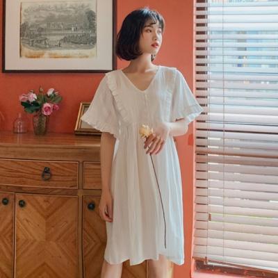 베르사유 원피스 잠옷 지짐면 파자마 홈드레스